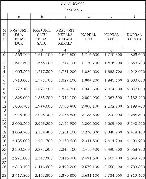 Gaji Anggota Tentara Nasional Indonesia