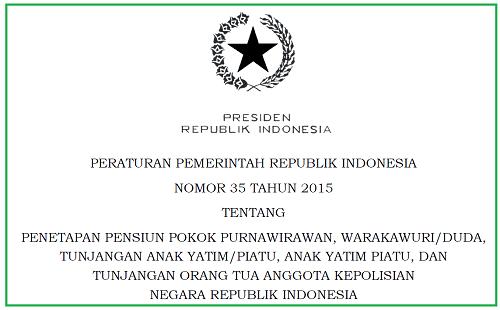 Pensiun Purnawirawan, Warakawuri/Duda, Anak, Orang Tua Anggota Kepolisian