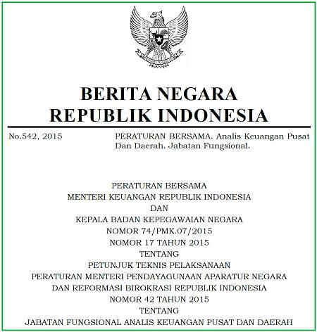 Jabatan Fungsional Analis Keuangan Pusat dan Daerah
