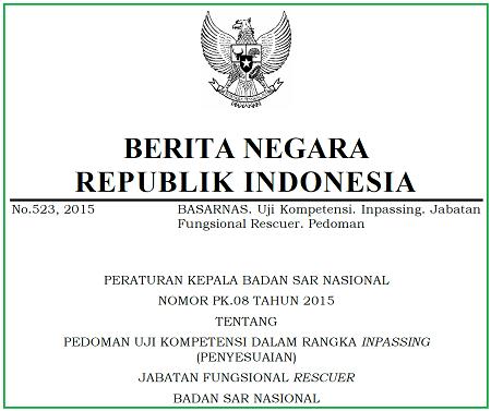 Pedoman Uji Kompetensi dalam Rangka Inpassing (Penyesuaian) Jabatan Fungsional Rescuer Badan SAR Nasional