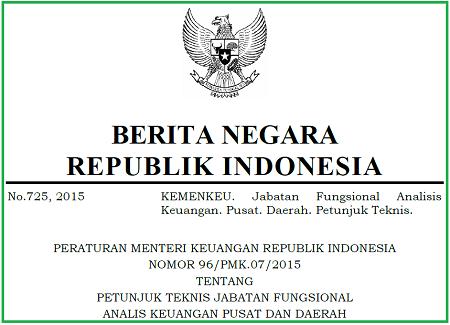 Petunjuk Teknis Jabatan Fungsional Analis Keuangan Pusat dan Daerah