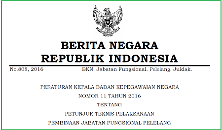 Petunjuk Teknis Pelaksanaan Pembinaan Jabatan Fungsional Pelelang