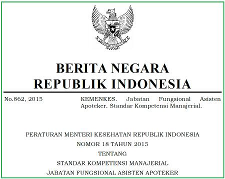 Standar Kompetensi Manajerial Jabatan Fungsional Asisten Apoteker