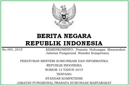 Standar Kompetensi Jabatan Fungsional Pranata Hubungan Masyarakat