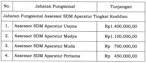 Tunjangan Jabatan Fungsional Assessor SDM Aparatur