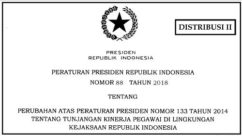Tunjangan Kinerja Pegawai di Lingkungan Kejaksaan Republik Indonesia