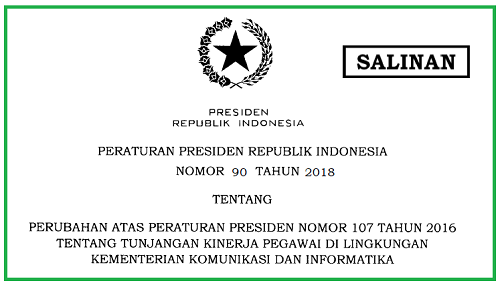 Tunjangan Kinerja Pegawai di Lingkungan Kementerian Komunikasi dan Informatika