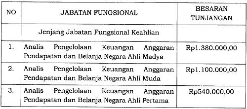 Tunjangan Jabatan Fungsional Analis Pengelolaan Keuangan Anggaran Pendapatan dan Belanja Negara