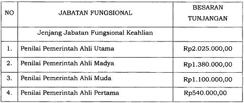 Tunjangan Jabatan Fungsional Penilai Pemerintah